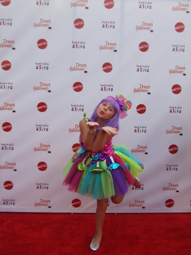 Criminal Minds actress, Caitlin Carmichael poses for a picture on the red carpet on Oct. 26.