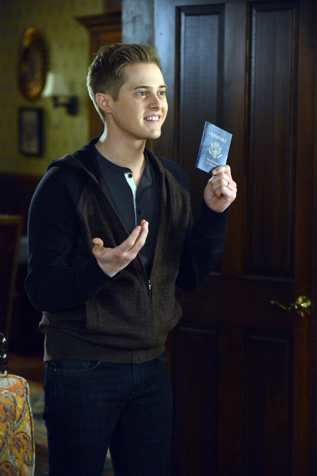 "SWITCHED AT BIRTH - ""Love Seduces Innocence, Pleasure Entraps, and Remorse Follows"" - Bay has reservations about Emmett's new girlfriend in the spring finale of ""Switched at Birth,"" airing Monday, March 24 at 8:00PM ET/PT on ABC Family. (ABC FAMILY/Eric McCandless) © (ABC FAMILY/Eric McCandless) LUCAS GRABEEL"