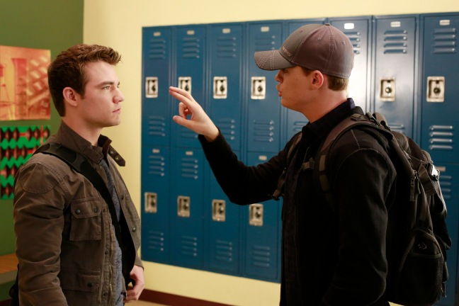 "SWITCHED AT BIRTH - ""Love Among the Ruins"" - Bay struggles with her feelings about Emmett and Tank while Daphne risks her safety to protect Regina in the summer premiere of ""Switched at Birth,"" airing Monday, June 16 at 8:00PM ET/PT on ABC Family. (ABC FAMILY/Ron Tom) © (ABC FAMILY/Ron Tom) DANIEL NICHOLAS DURANT, SEAN BERDY"