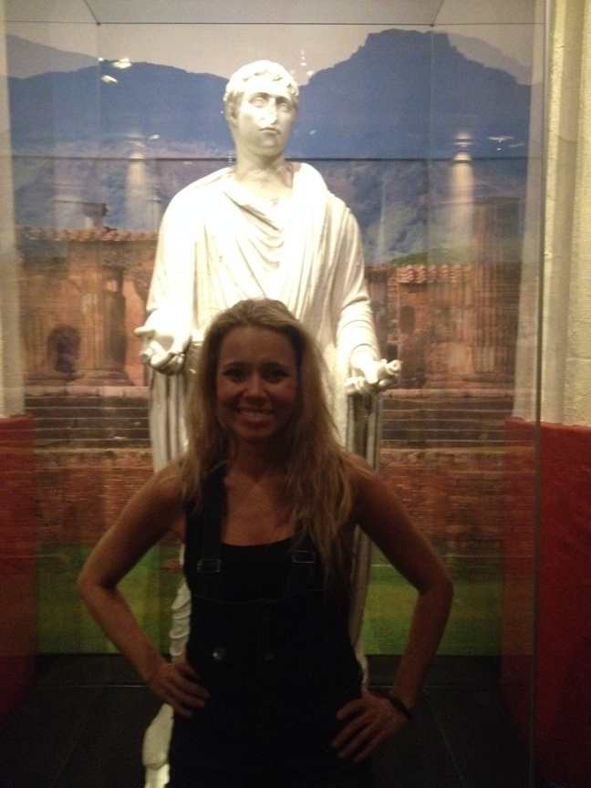 Jody Stevenson at the Pompeii Exhibit at the California Science Center, Los Angeles Calif.