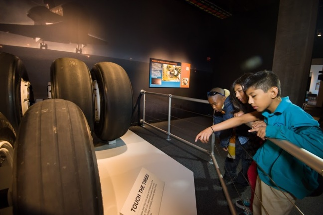 Pictured are the tires that were used with the Endeavour at the Space Shuttle Endeavour Exhibition at the California Science Center. Credit: Courtesy of the California Science Center.