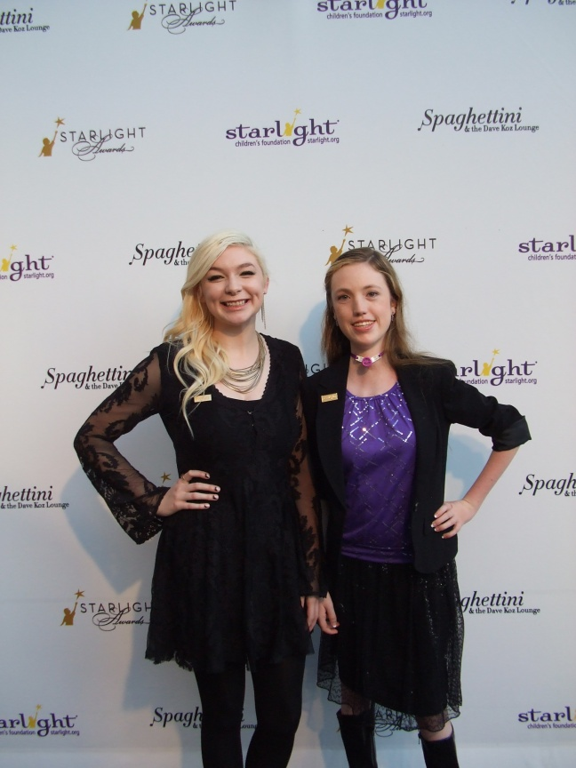 From left, Starbright World Teens Kara and Brianna at the 2014 Starlight Awards in Los Angeles.  Photo by Megan Clancy