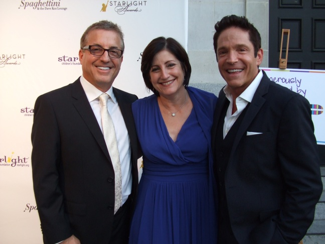 From left: Music producer Jeff Koz, Audrey's Cookies Founder & CEO Roberta Koz Wilson, and musician Dave Koz at 2014 Starlight Awards in Los Angeles on Oct. 23.  Photo by Megan Clancy