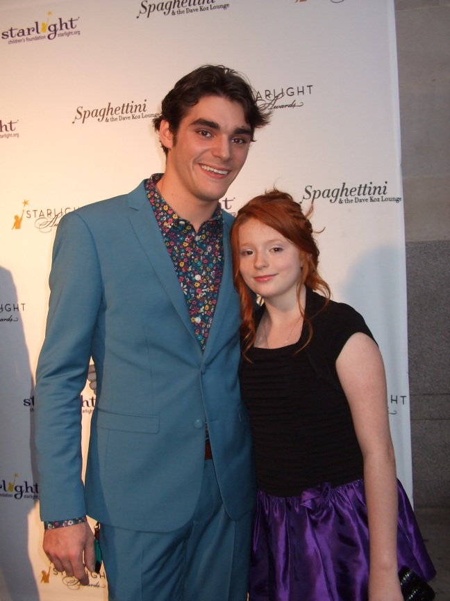 RJ Mitte with his sister at Starlight Awards.  Photo by Megan Clancy