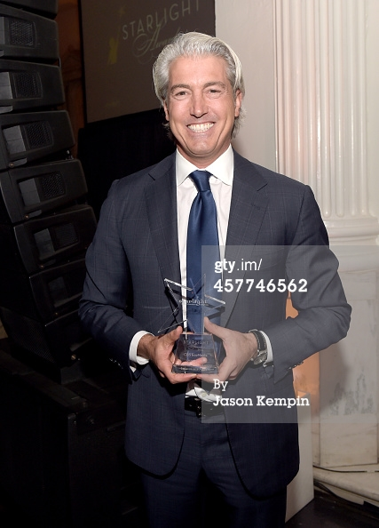 2014 Starlight Awards  Credit: Jason Kempin / Staff Caption:LOS ANGELES, CA - OCTOBER 23: CBS EcoMedia, Inc. President and Founder Paul Polizzotto poses with the General H. Norman Schwarzkopf Leadership Award at the 2014 Starlight Awards at Vibiana on October 23, 2014 in Los Angeles, California. (Photo by Jason Kempin/Getty Images for Starlight Children's Foundation)