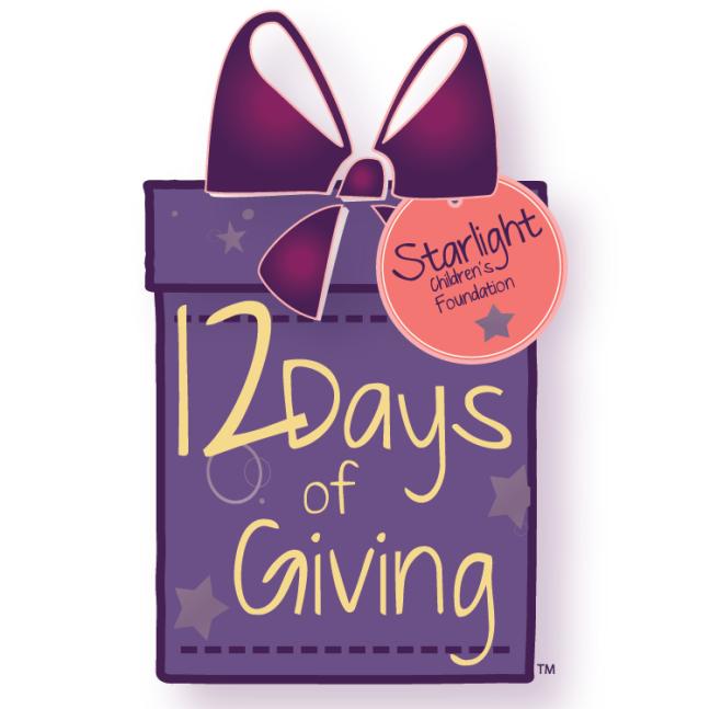 12 Days of Giving.  Courtesy of Starlight Children's Fpundation.