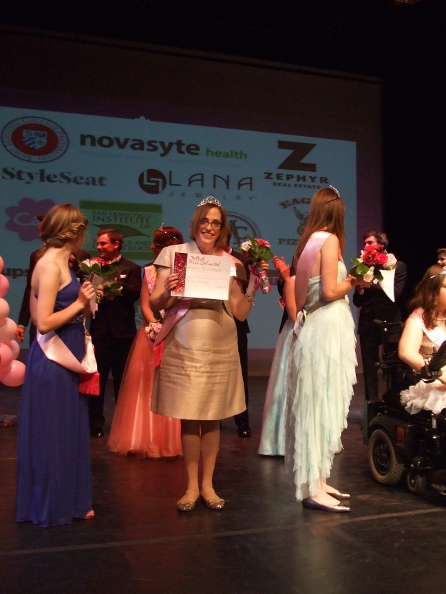 Mara Clancy, in the middle, earns her title of Miss Spirited.  Photo by Megan Clancy