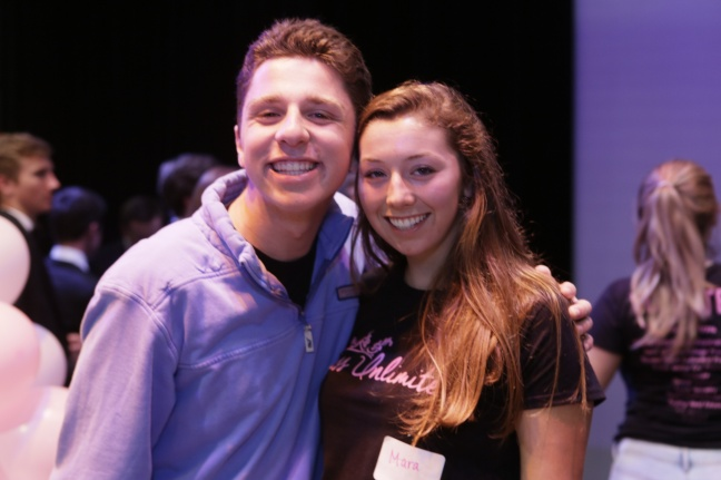 SI student volunteers Hart Ayoob and Mara Sylvia. Photo credit: Paul Totah, spokesman of St. Ignatius College Preparatory.