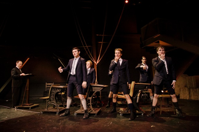 A scene in Spring Awakening.  Photo credit: Tate Tullier