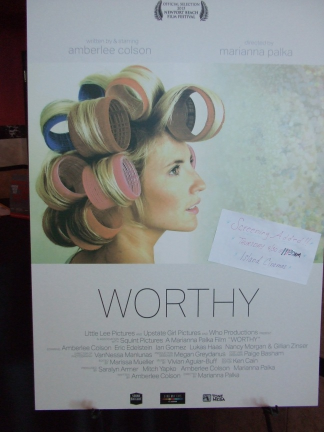Photo of poster for Worthy.  Photo by Megan Clancy